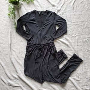 Forever 21 Charcoal Grey Jumpsuit with Pockets